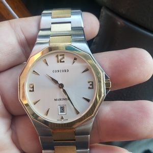 Men's Concord Mariner 18kt Gold & Stainless Steel